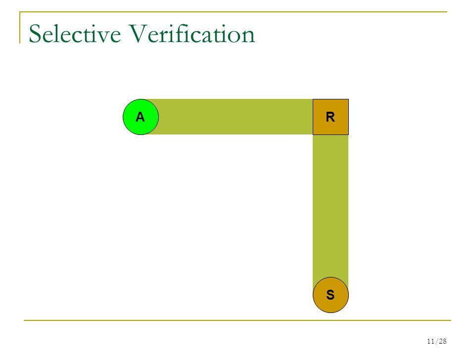 11/28 Selective Verification RA S