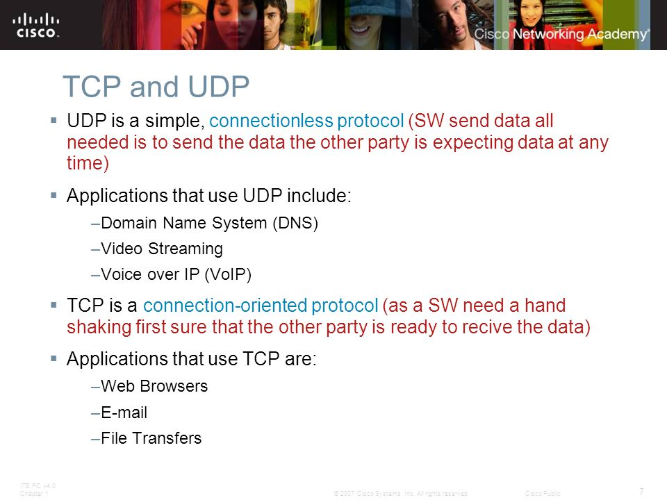 ITE PC v4.0 Chapter 1 8 © 2007 Cisco Systems, Inc.