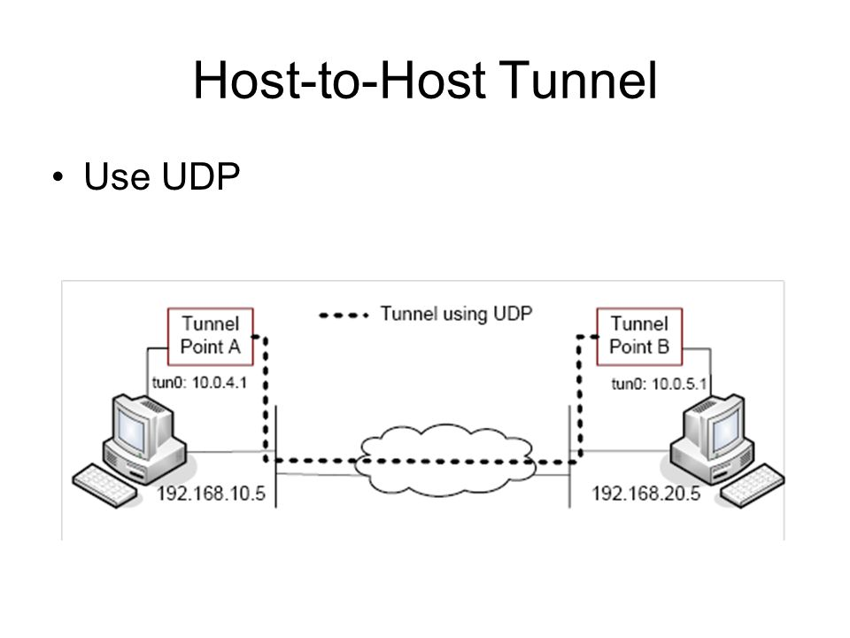 Host-to-Host Tunnel Use UDP