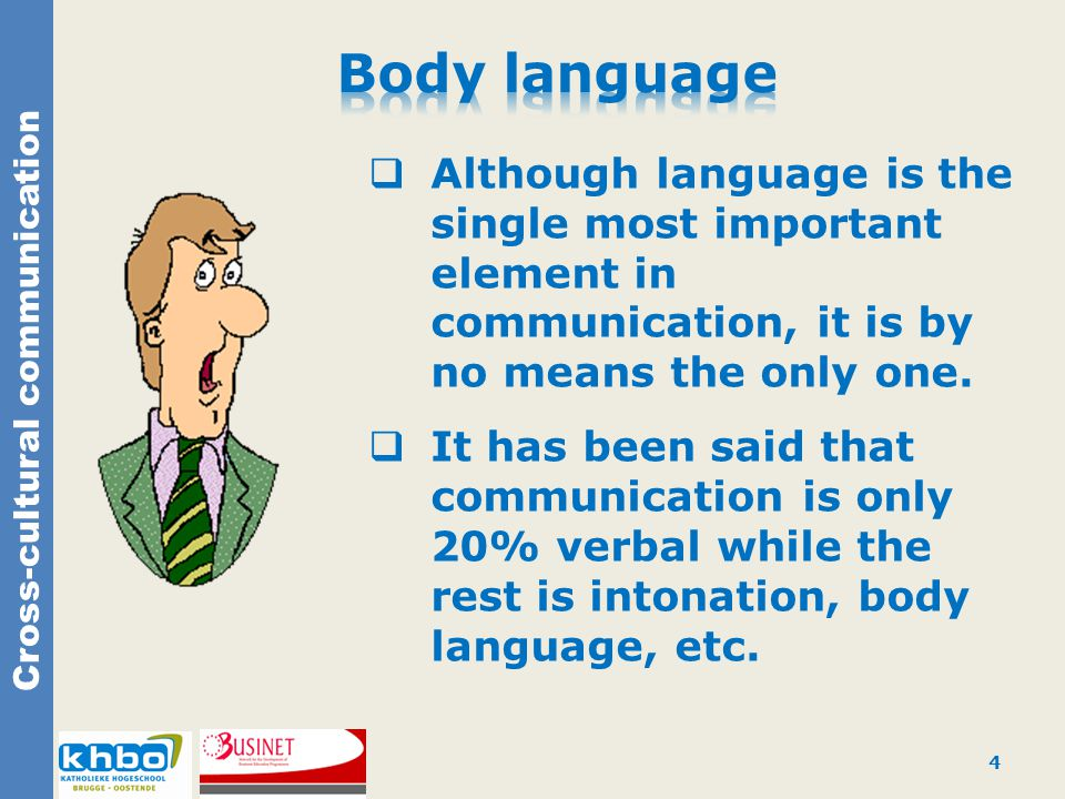  Although language is the single most important element in communication, it is by no means the only one.