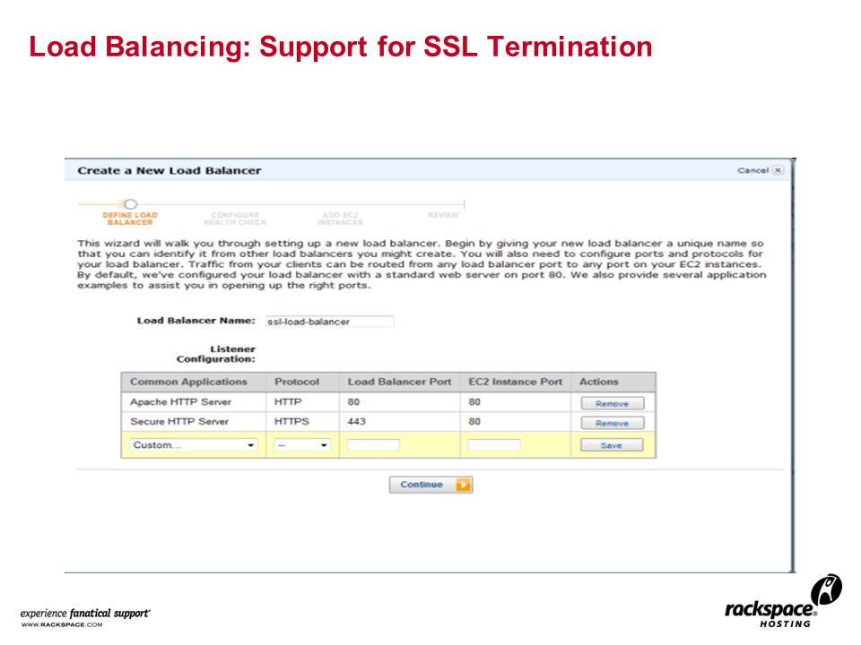 Load Balancing: Support for SSL Termination