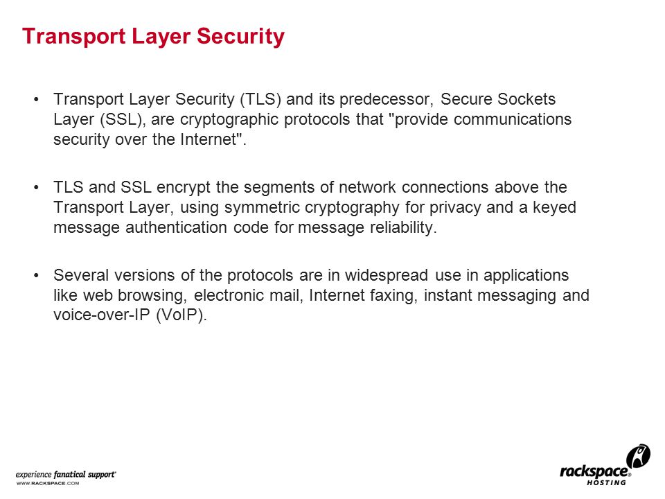 Description The TLS protocol allows client/server applications to communicate across a network in a way designed to prevent eavesdropping and tampering.