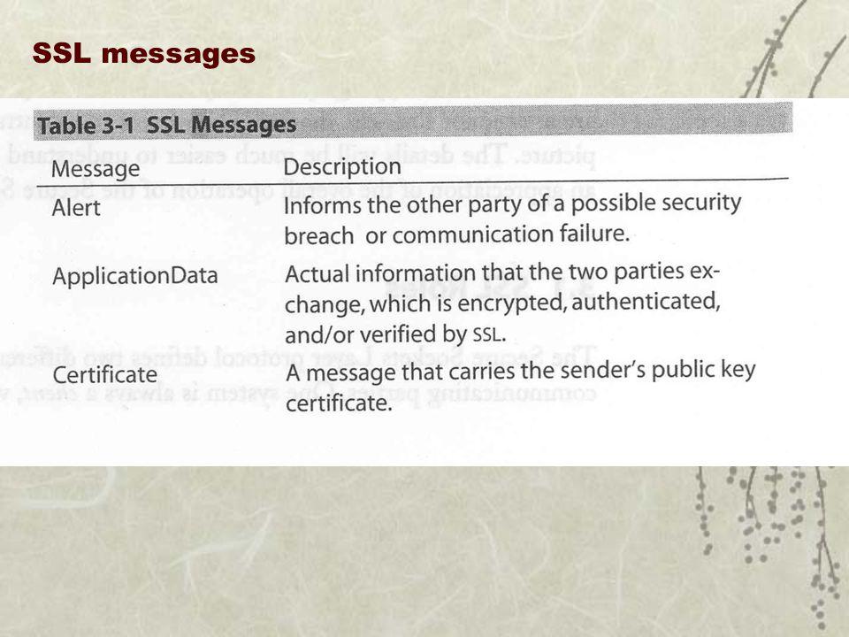 SSL messages