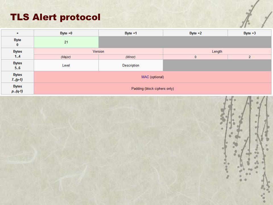 TLS Alert protocol