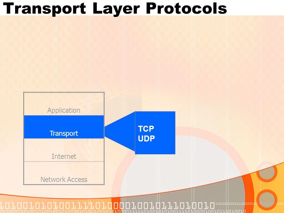 Internet Layer Protocols Application Transport Internet Network Access IP ICMP ARP RARP