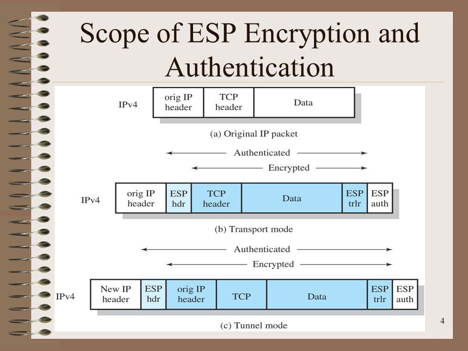 Scope of ESP Encryption and Authentication 4