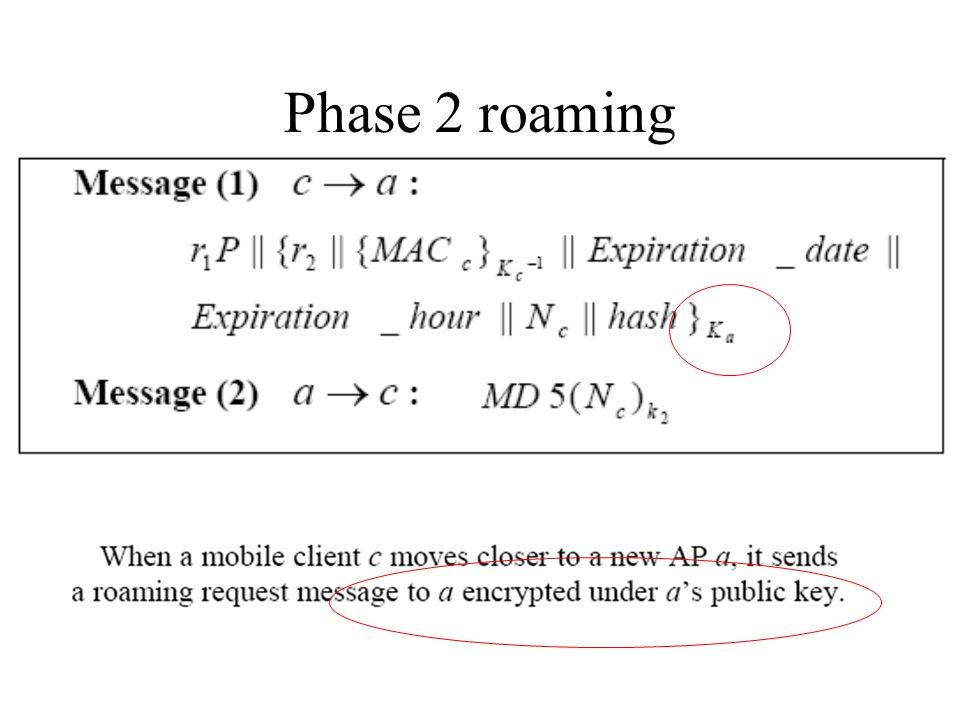 Phase 2 roaming