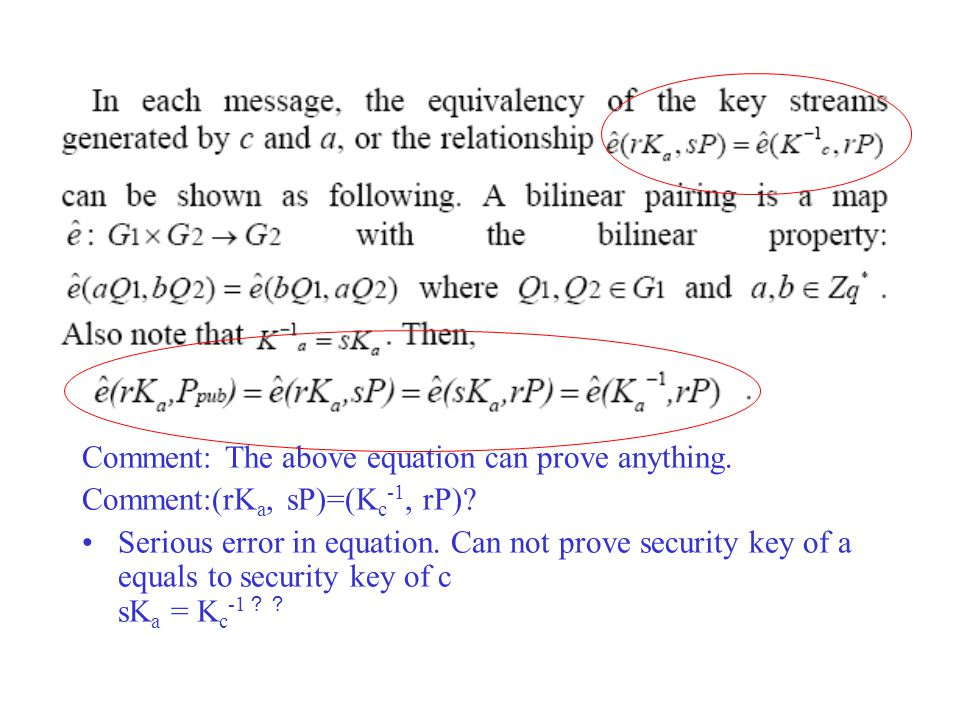 Comment: The above equation can prove anything. Comment:(rK a, sP)=(K c -1, rP).