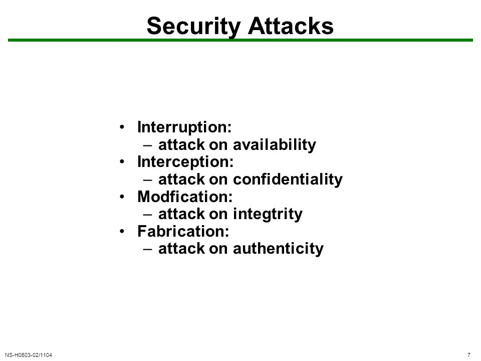 NS-H0503-02/11048 Security Attacks