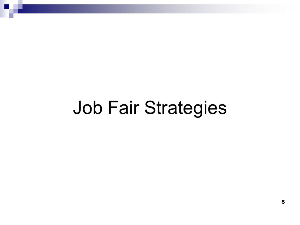 5 Job Fair Strategies