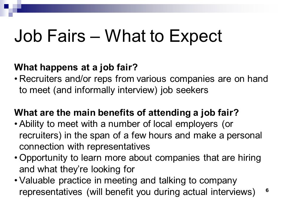 7 Job Fairs – How to Prepare What's the best way to prepare for a job fair.