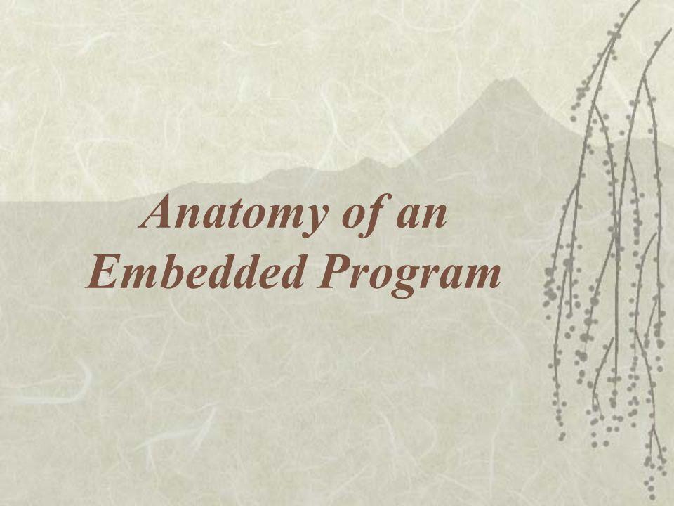 Anatomy of an Embedded Program