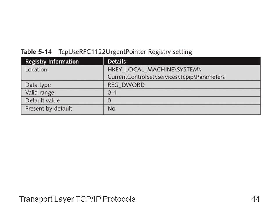 Transport Layer TCP/IP Protocols44