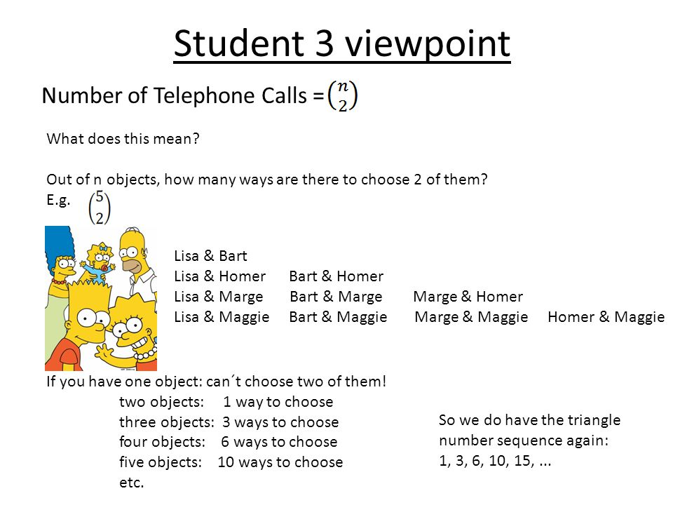 Student 3 viewpoint Number of Telephone Calls = What does this mean.