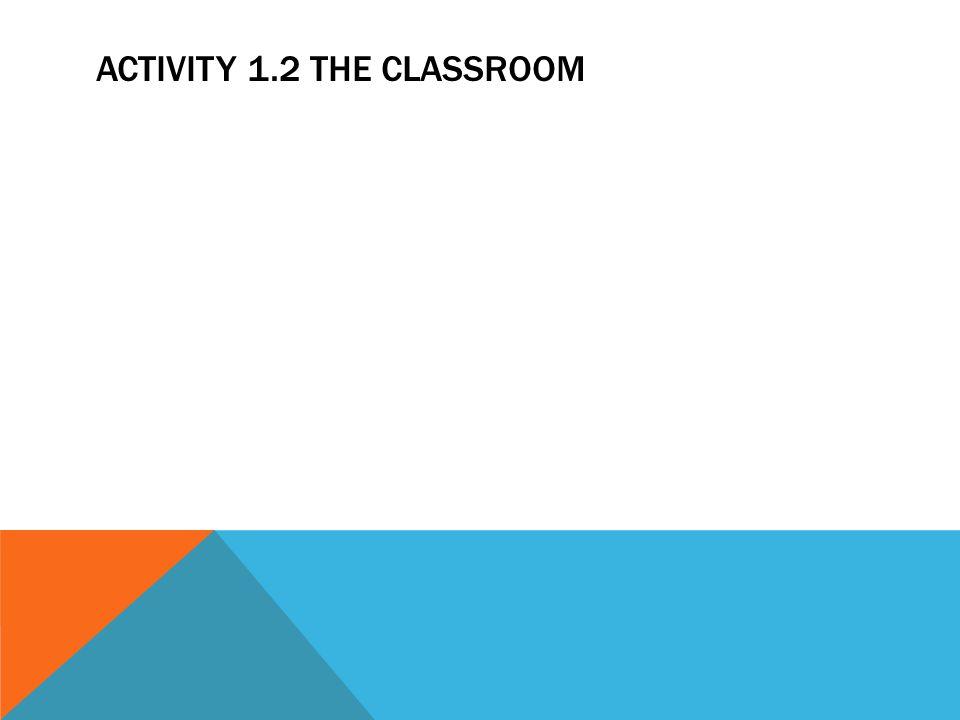 ACTIVITY 1.2 THE CLASSROOM