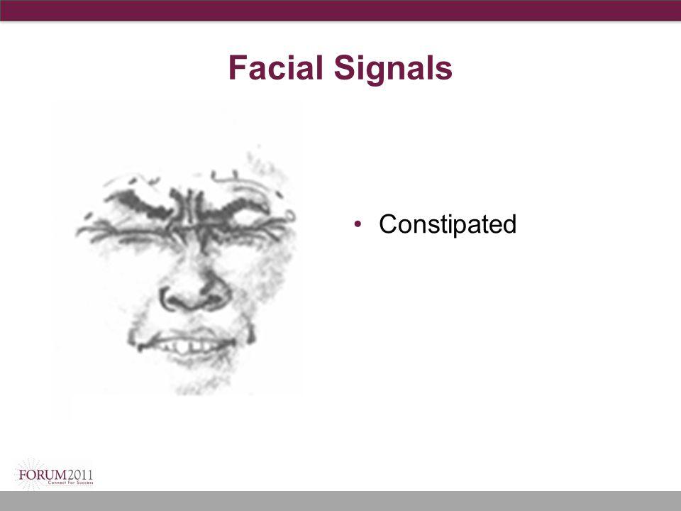 Facial Signals Constipated