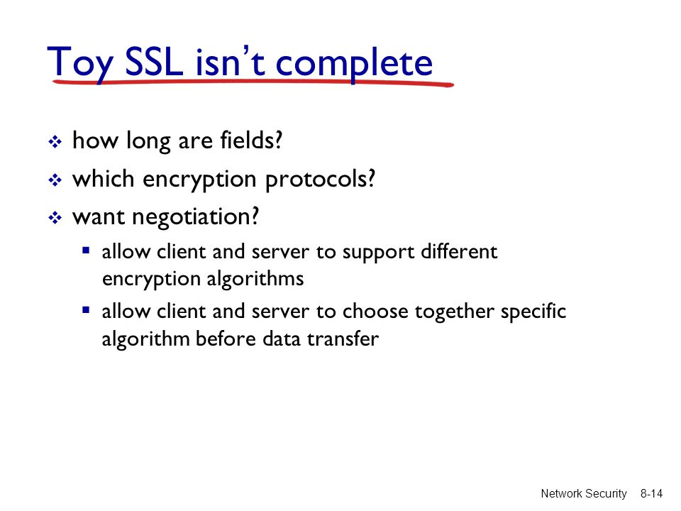 8-14Network Security Toy SSL isn't complete  how long are fields.
