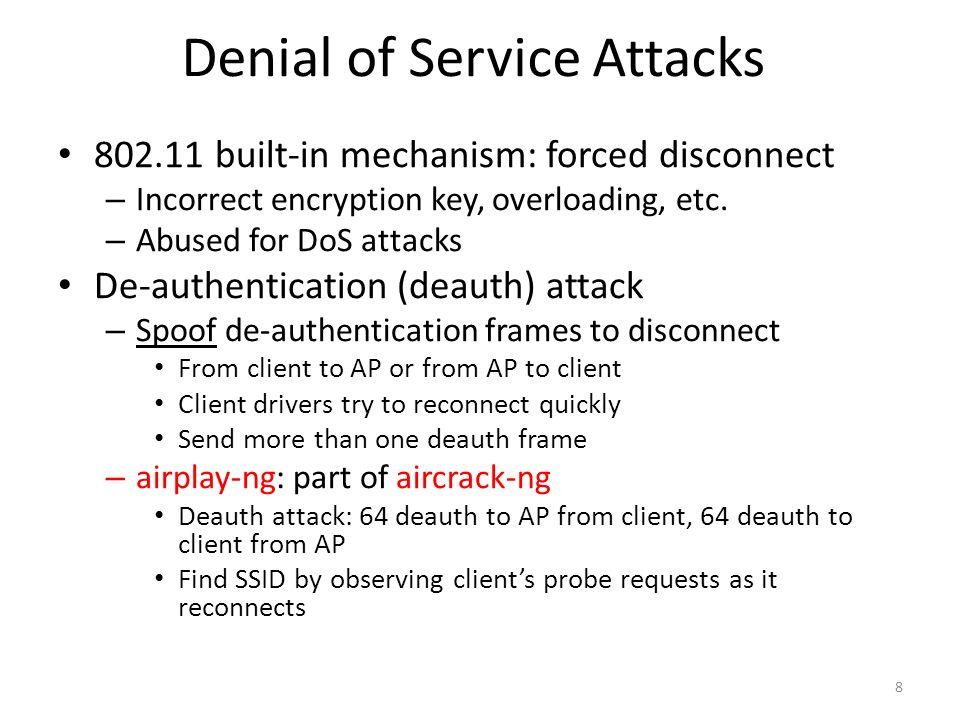 Encryption Attacks WPA vs.WEP – /w authentication vs.