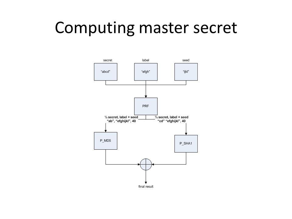 Computing master secret