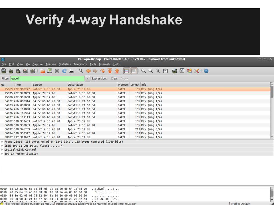 Verify 4-way Handshake