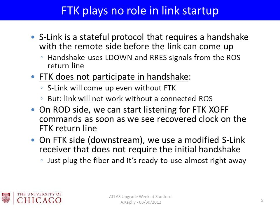 FTK plays no role in link startup ATLAS Upgrade Week at Stanford.