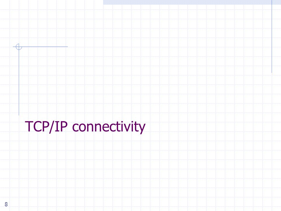 8 TCP/IP connectivity