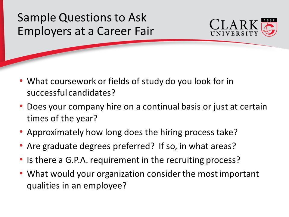 job fair questions employers ask