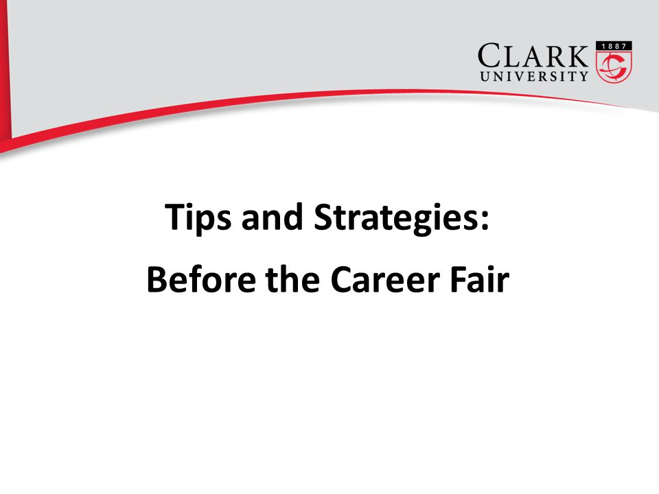 Tips and Strategies: Before the Career Fair 4