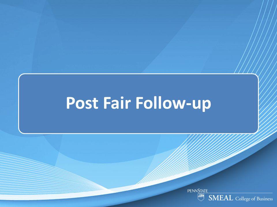 Post Fair Follow-up