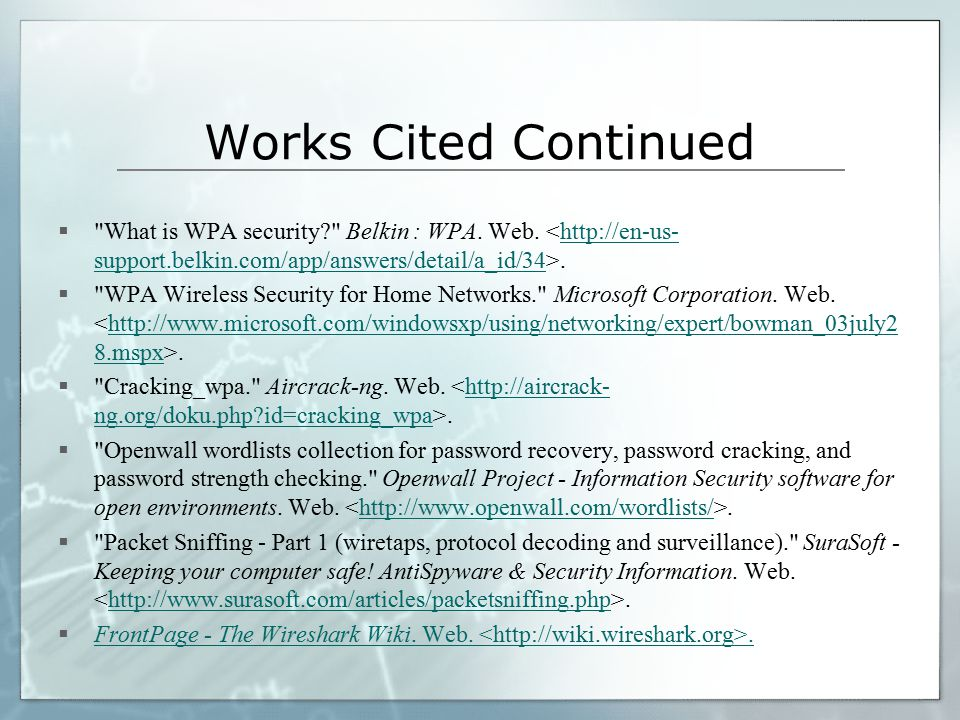 Works Cited Continued 