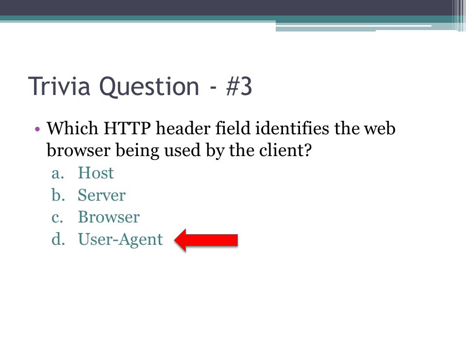 Trivia Question - #4 Which protocol do computers use to exchange information about their MAC addresses to other computers on the same subnet.