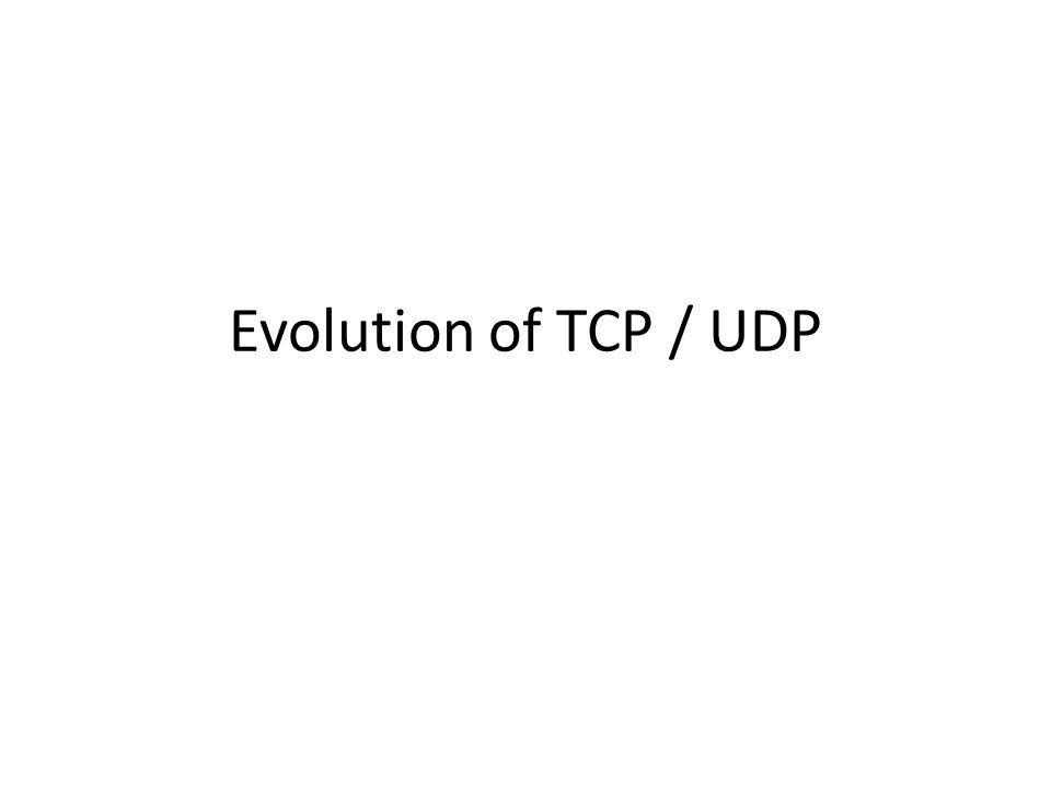 Evolution of TCP / UDP
