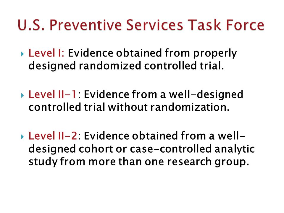  Level I: Evidence obtained from properly designed randomized controlled trial.
