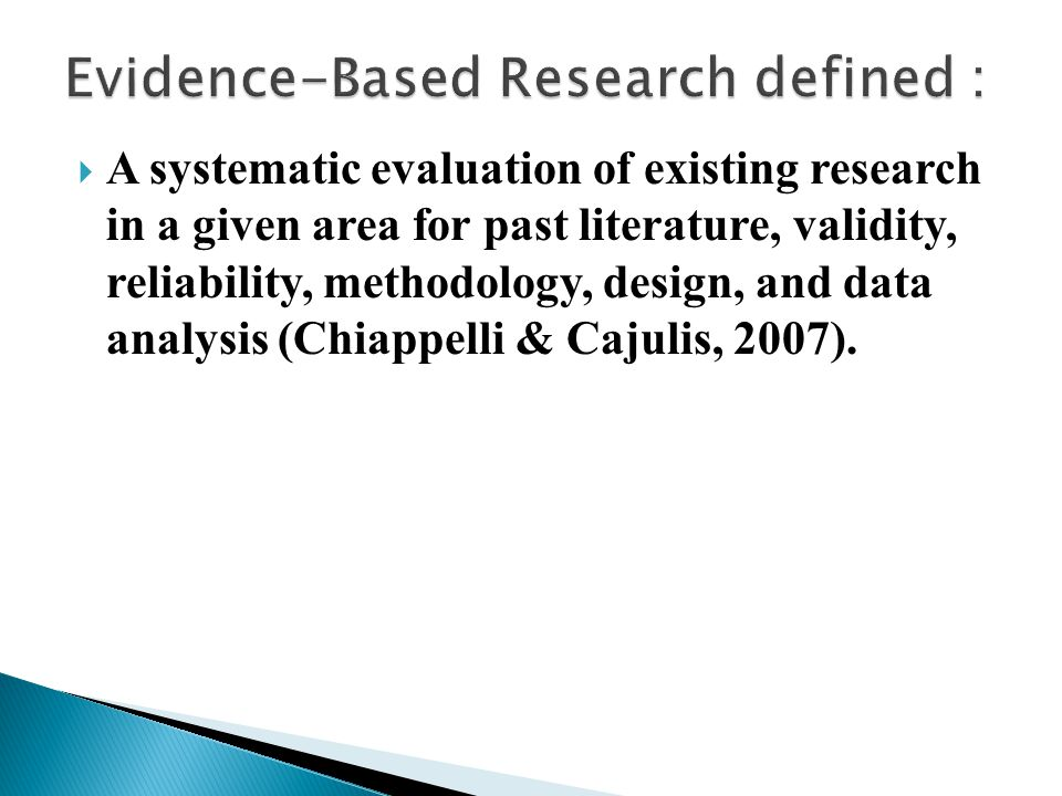  Pose significant questions that can be empirically investigated.