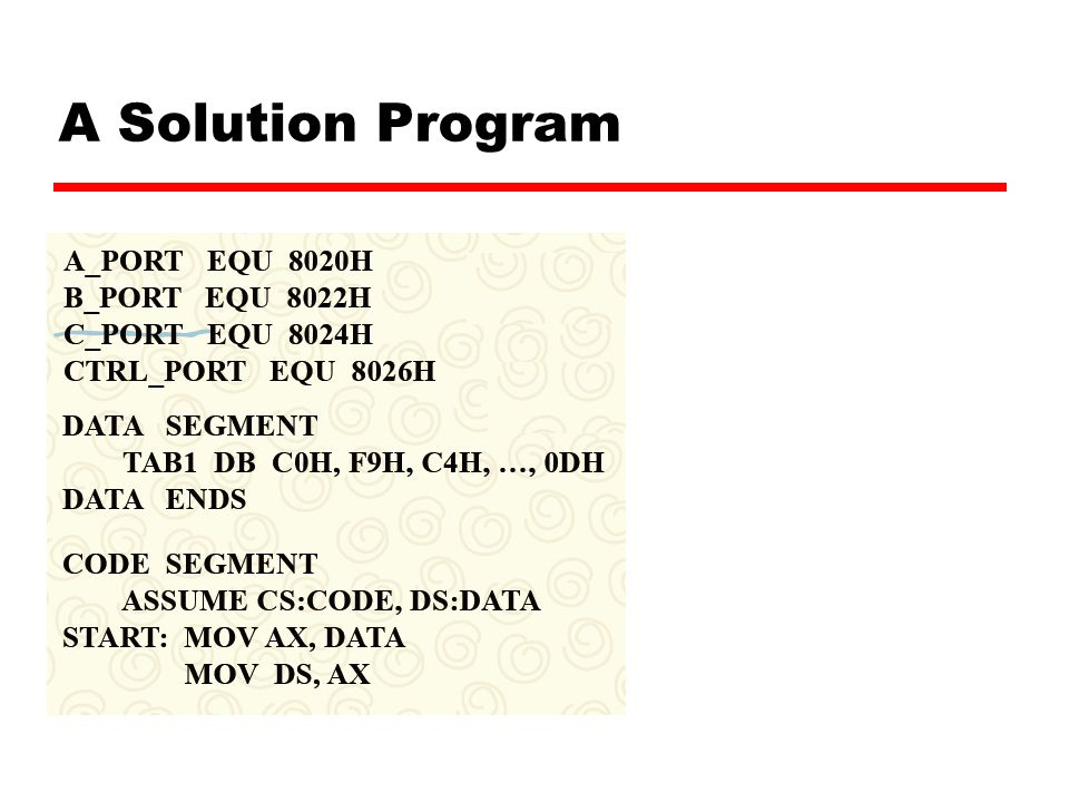 A Solution Program