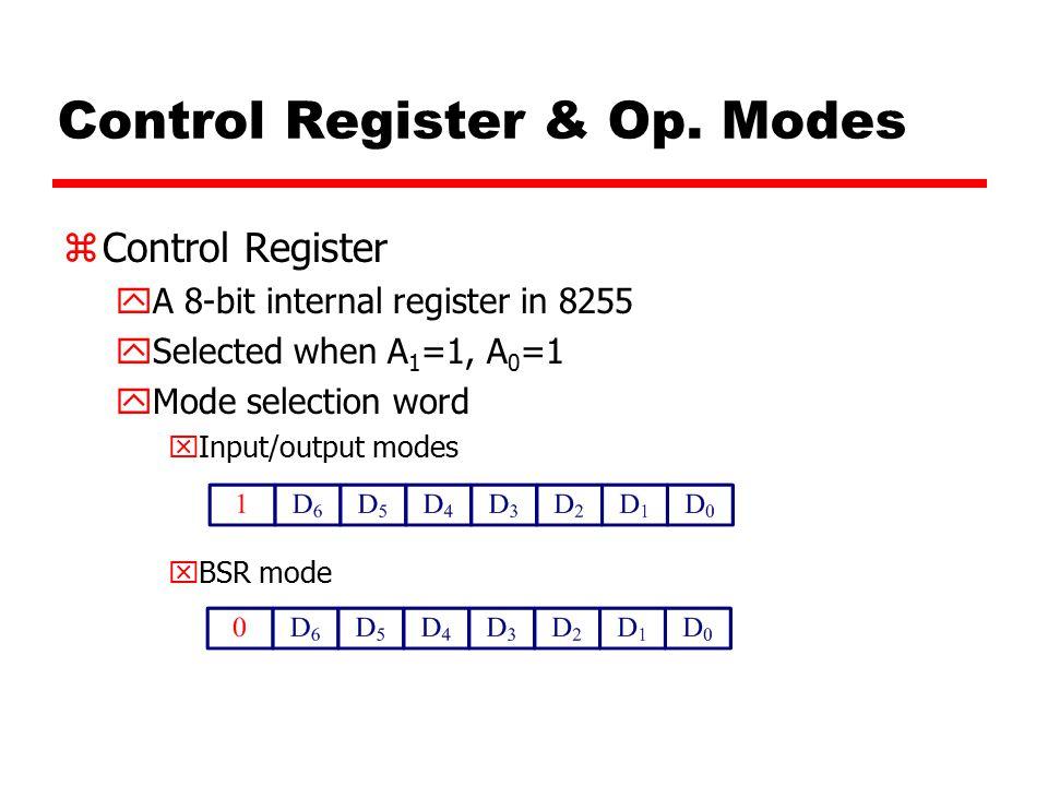 Control Register & Op.