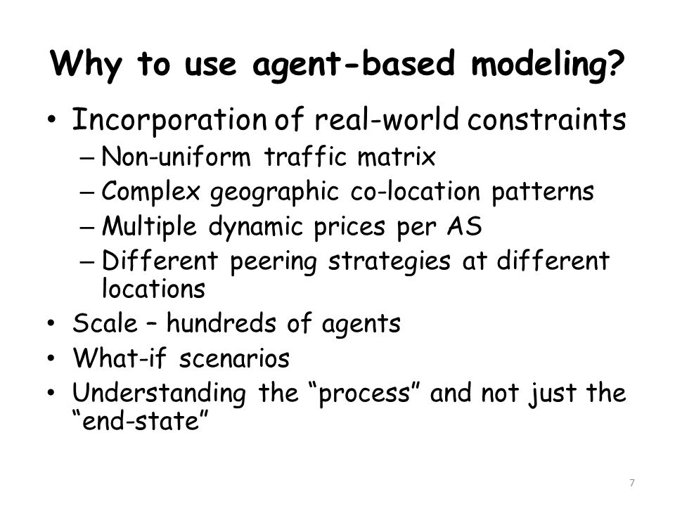 Why to use agent-based modeling.