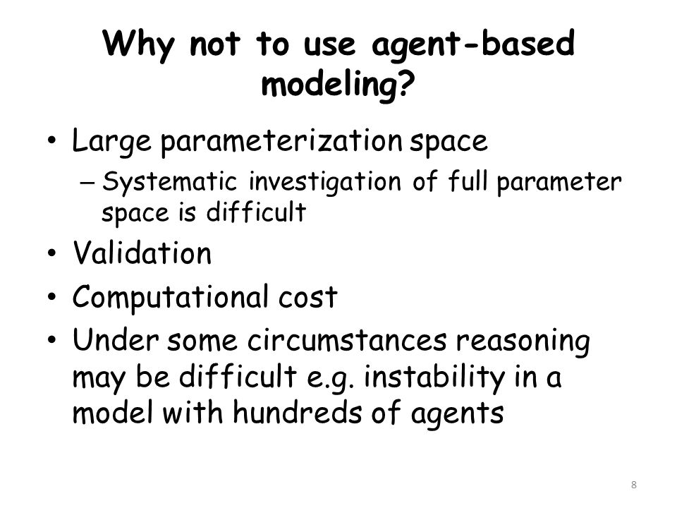 Why not to use agent-based modeling.