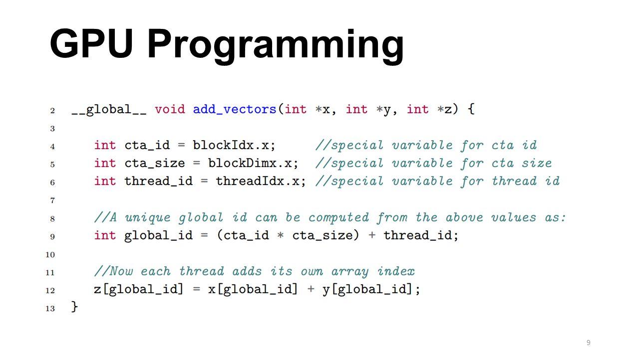 GPU Programming 9