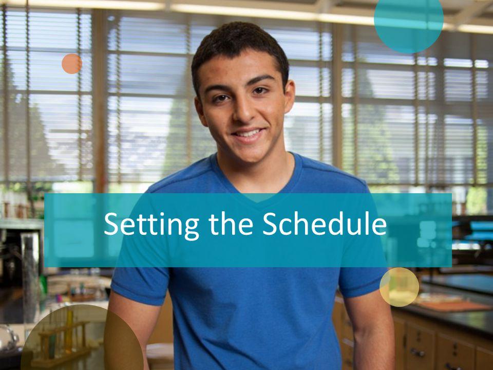 Schedule of Activities Stay flexible.
