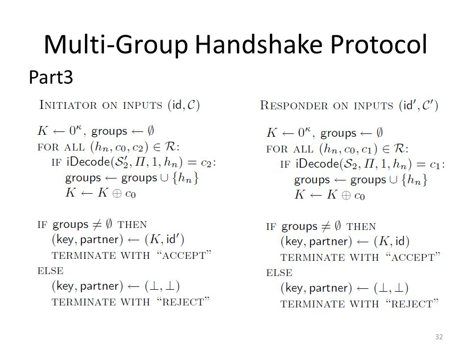 Multi-Group Handshake Protocol Part3 32