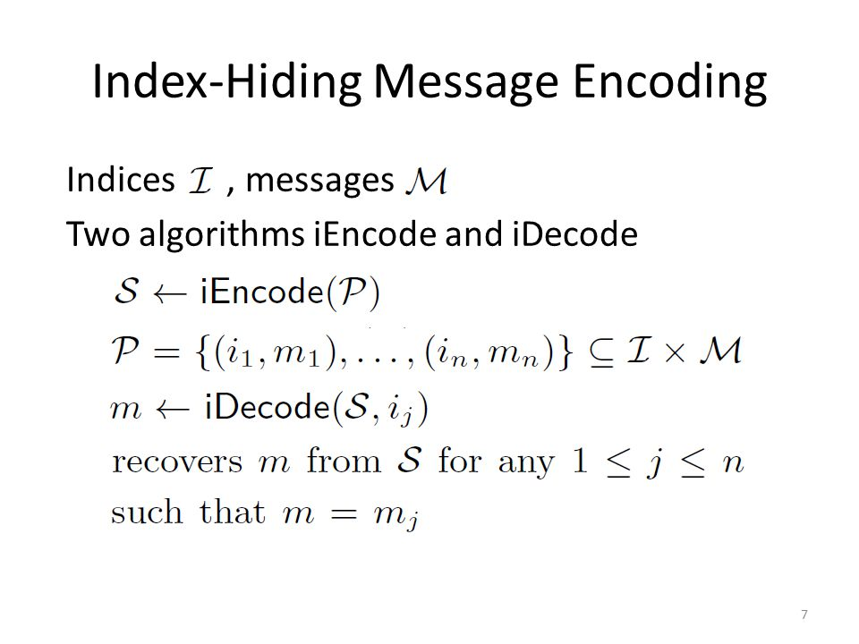 Multi-Group Handshake Protocol Users have a set at least; in first-round messages are encoded over a much small field of elements 28