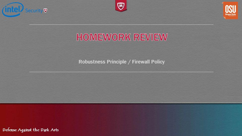 Robustness Principle / Firewall Policy