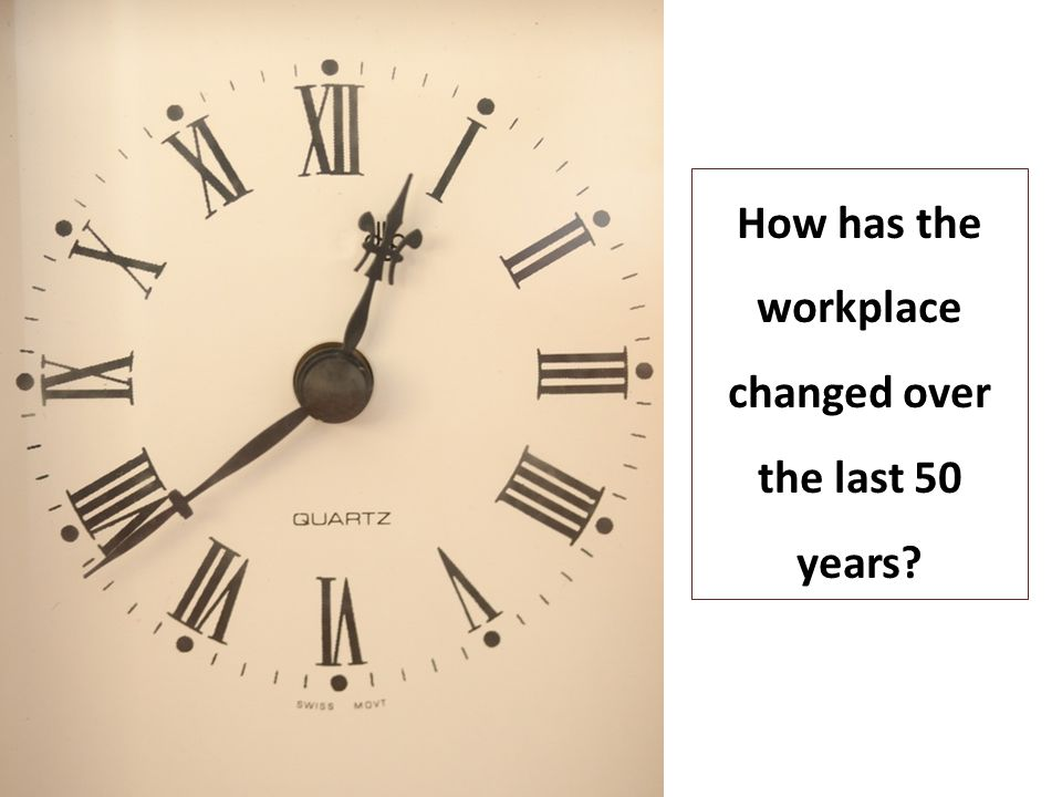 How has the workplace changed over the last 50 years