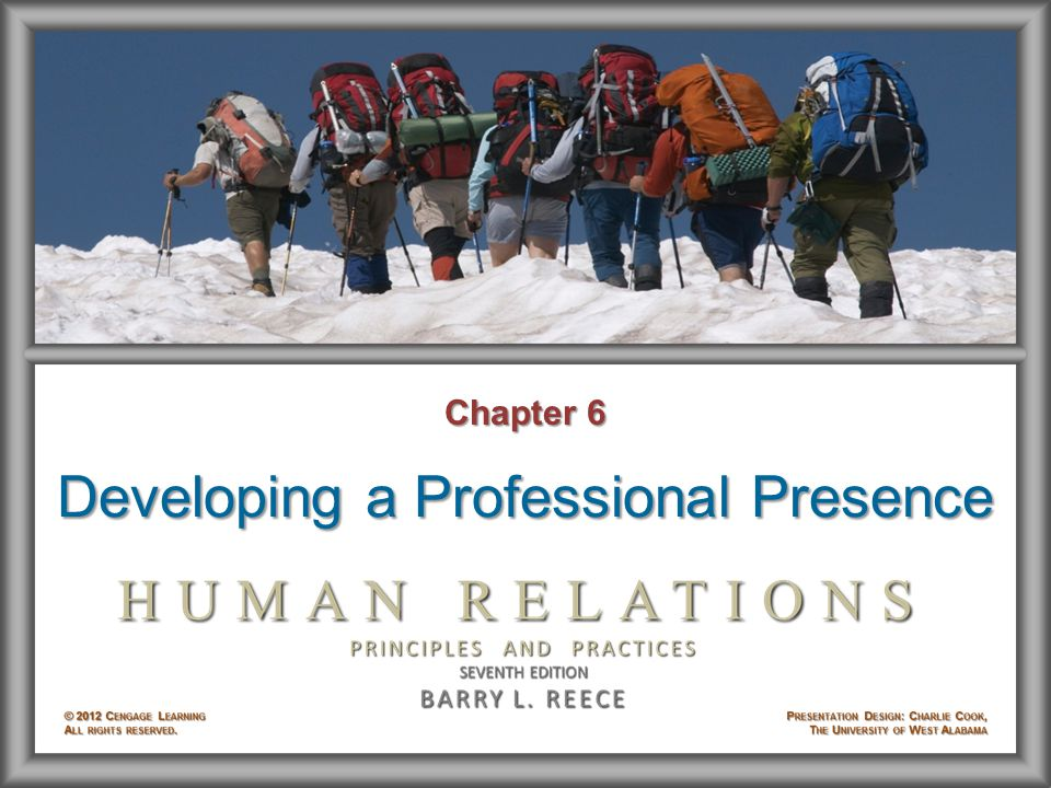 Chapter 6 Developing a Professional Presence