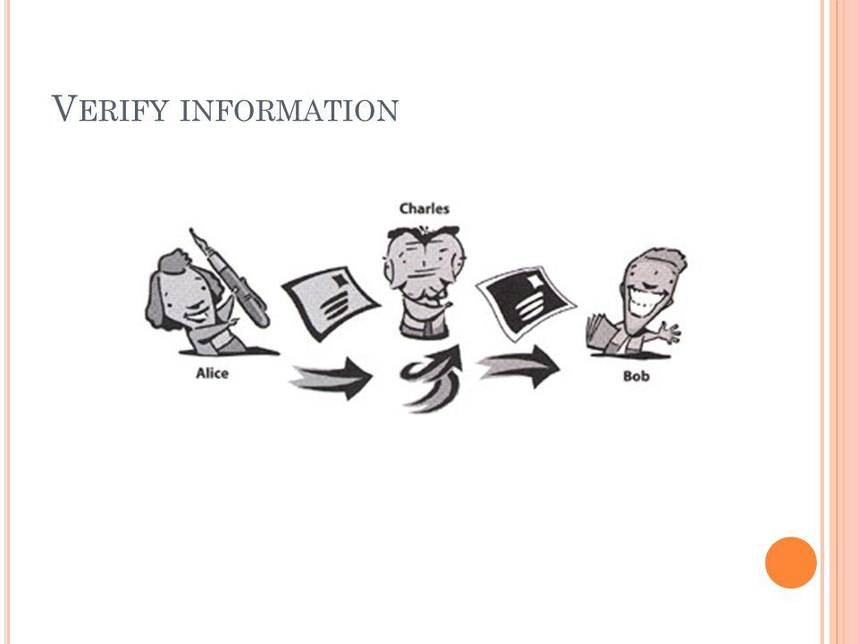 V ERIFY INFORMATION