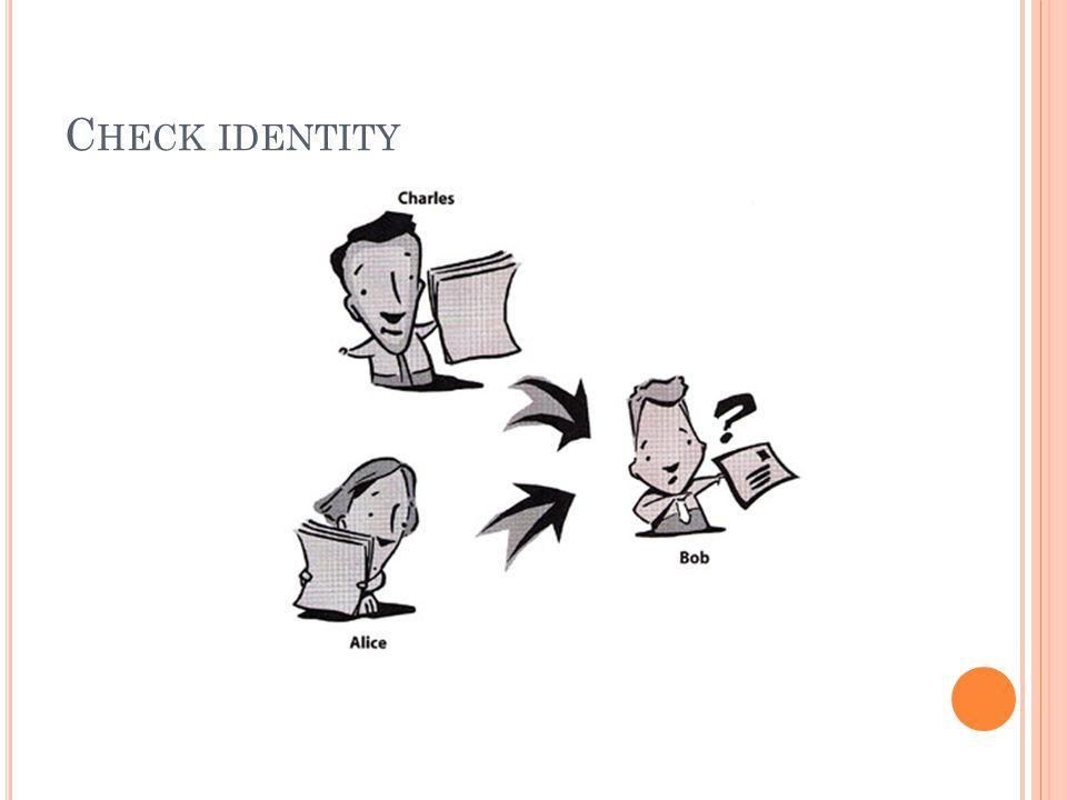 C HECK IDENTITY