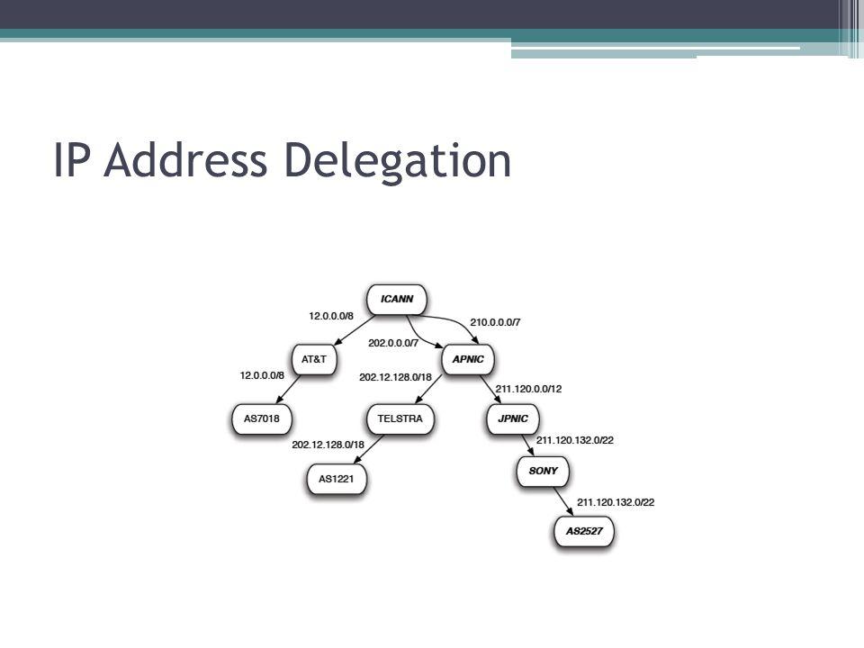 IP Address Delegation