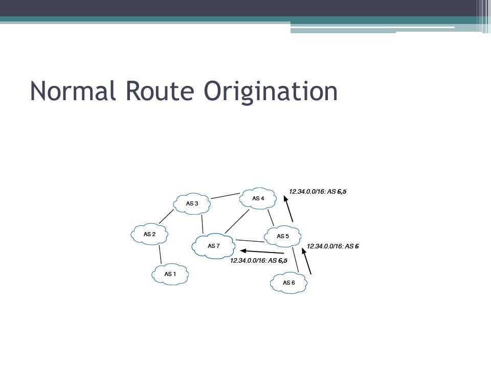 Normal Route Origination