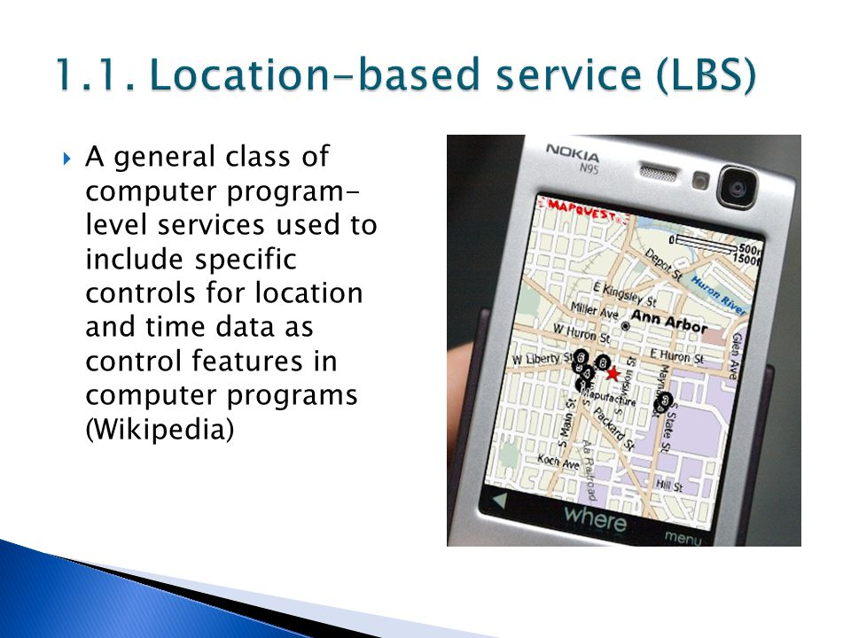  A general class of computer program- level services used to include specific controls for location and time data as control features in computer pro